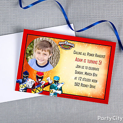 Power Rangers Party Ideas Party City – Power Rangers Party Invitations