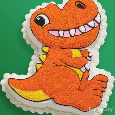Prehistoric Dinosaur T-Rex Cake Idea