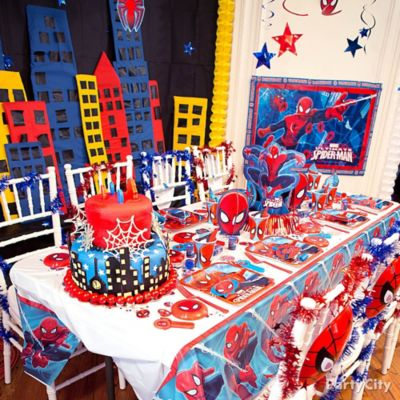 Spider Man Party Table Idea Table Decorating Ideas Spider Man