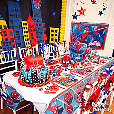Spider Man Party Table Idea