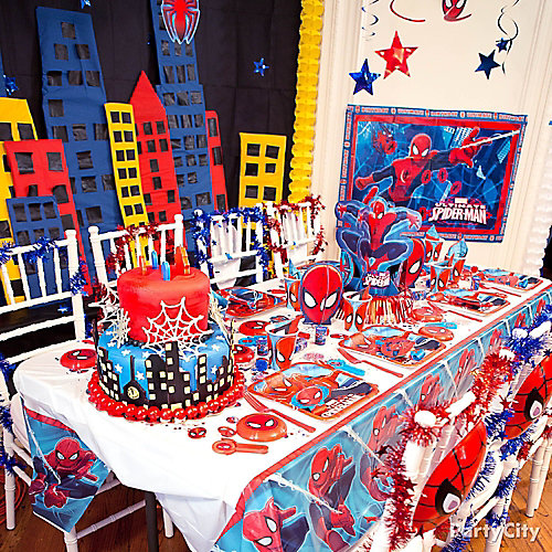 Spider Man Party Table Idea Decorating Ideas