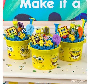 SpongeBob Favor Bucket Idea