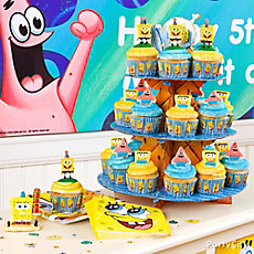 SpongeBob Cupcake Tower Idea