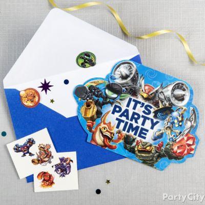 Skylanders Invite with Surprise Idea