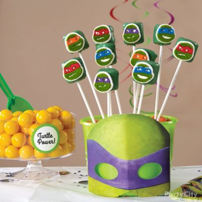 TMNT Marshmallow Pops How To