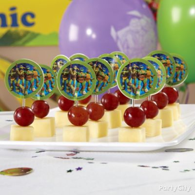 TMNT Fruit and Cheese Kabobs How To