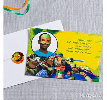 TMNT Custom Invite Idea