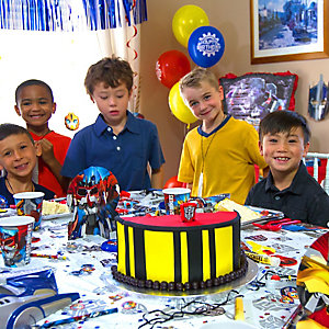 Transformers Cake Group Photo Idea
