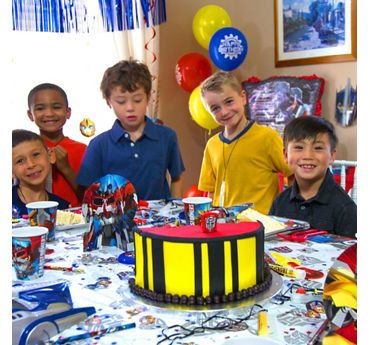 Transformers Cake Group Photo Idea