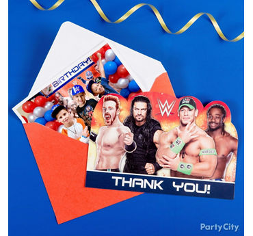 WWE Thank You Note Idea