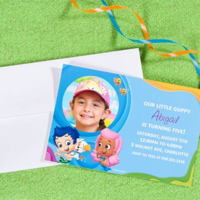 Bubble Guppies Custom Invite Idea