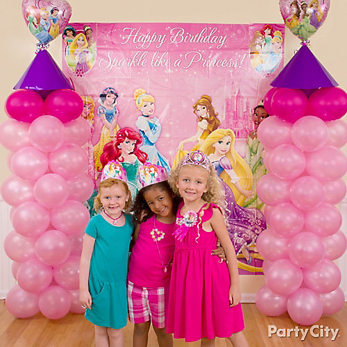 Disney Princess Balloon Towers DIY
