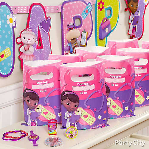 Doc McStuffins Favor Pack for 8 Idea