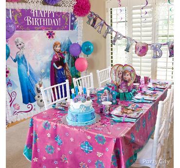 Frozen Party Table Idea