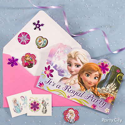 Frozen Invite with Surprise Idea