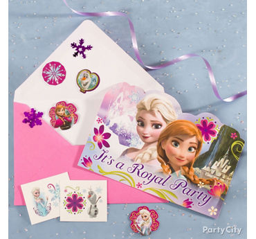 Frozen Invite with Surprise Idea