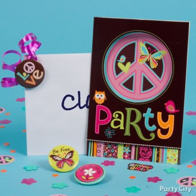 Hippie Chick Invite with Favor Idea