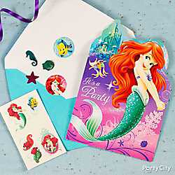 Little Mermaid Invite with Surprise Idea