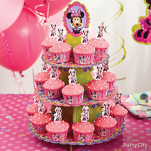 Minnie Mouse Cupcake Tower How To