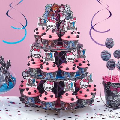 Monster High Cupcake Tower How To