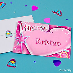 Princess Thank You Note Idea