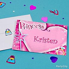Princess Thank You Note Idea