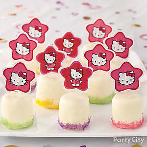 Hello Kitty Candy-Covered Marshmallows How To