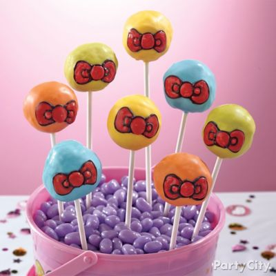 Hello Kitty Doughnut Pops How To
