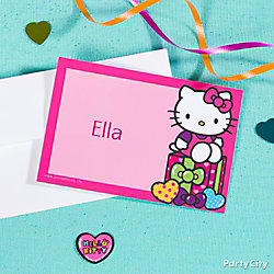 Hello Kitty Thank You Note Idea