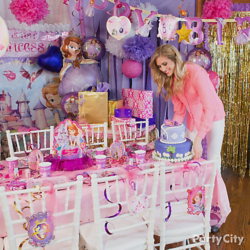 Sofia the First Party Table Idea