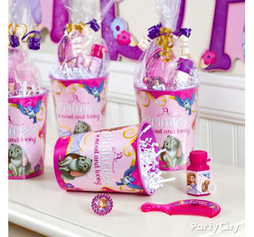 Sofia the First Favor Cup Idea