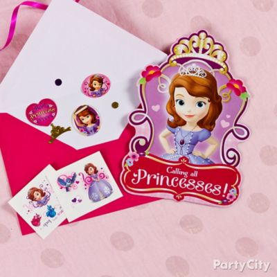 Sofia the First Invite with Surprise Idea