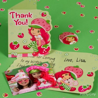 Strawberry Shortcake Thank You Note Idea