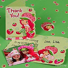 Strawberry Shortcake Thank You Note Idea