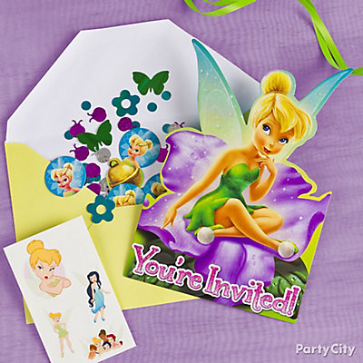 Tinker Bell Invite with Surprise Idea