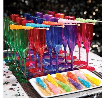 NYE Rock Candy Drinks Idea