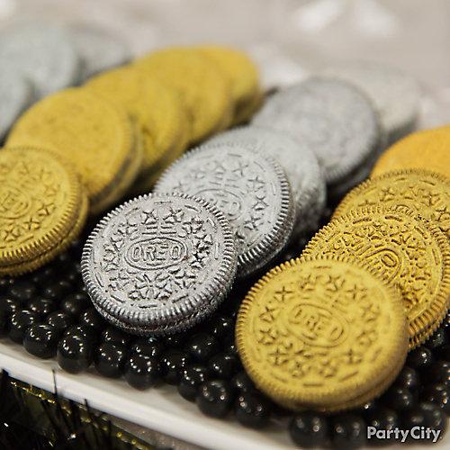 NYE Gilded Cookies