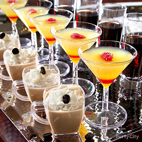Midnight shot bar recipes party city for Party food and drink ideas