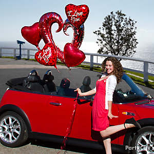 Valentine's Day Balloon Bouquet Idea
