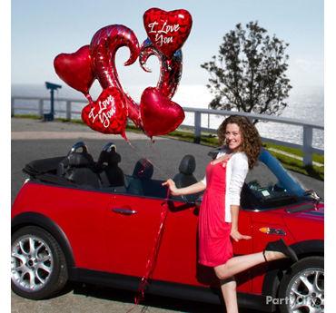Valentines Day Balloon Bouquet Idea