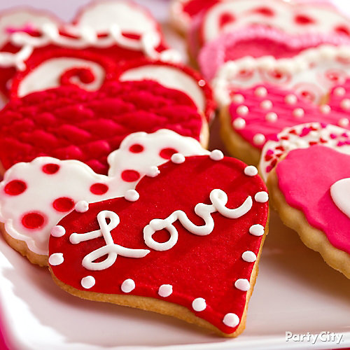 Valentine's Day Heart Cookies Idea