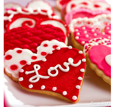 Valentines Day Heart Cookies Idea