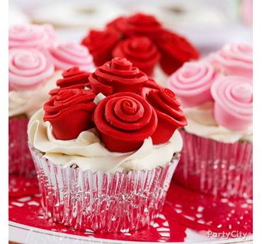 Fondant Rose Cupcakes Idea