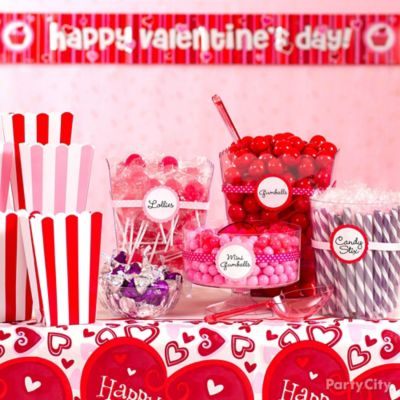 Valentines Day Candy Buffet Display Idea