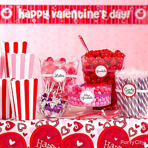 Valentine's Day Candy Buffet Display Idea
