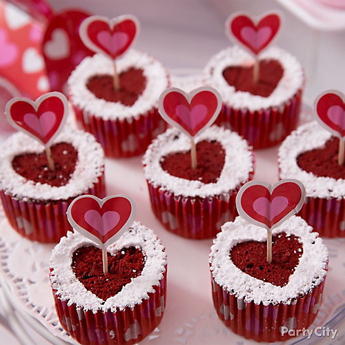 lovestruck red velvet cupcakes idea - Valentines Party Ideas For Adults