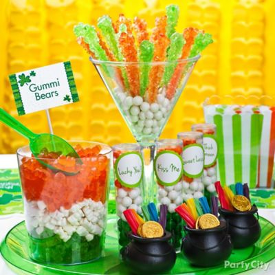 St. Paddy's Candy Buffet Idea