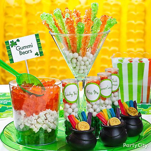 St. Paddy's Candy Buffet Idea