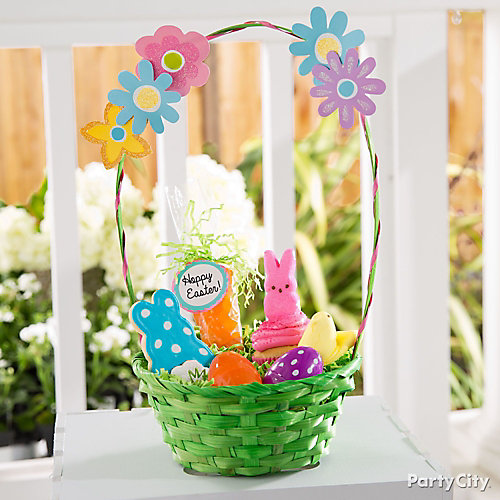 Flowers and Cookies Easter Basket Idea