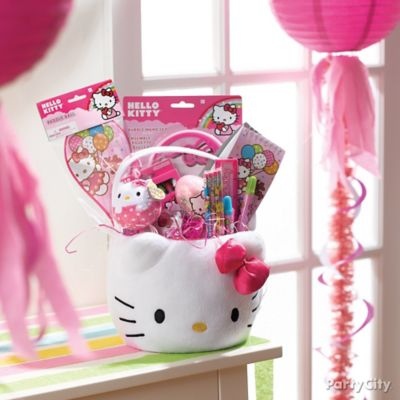 Hello Kitty Themed Easter Basket Idea